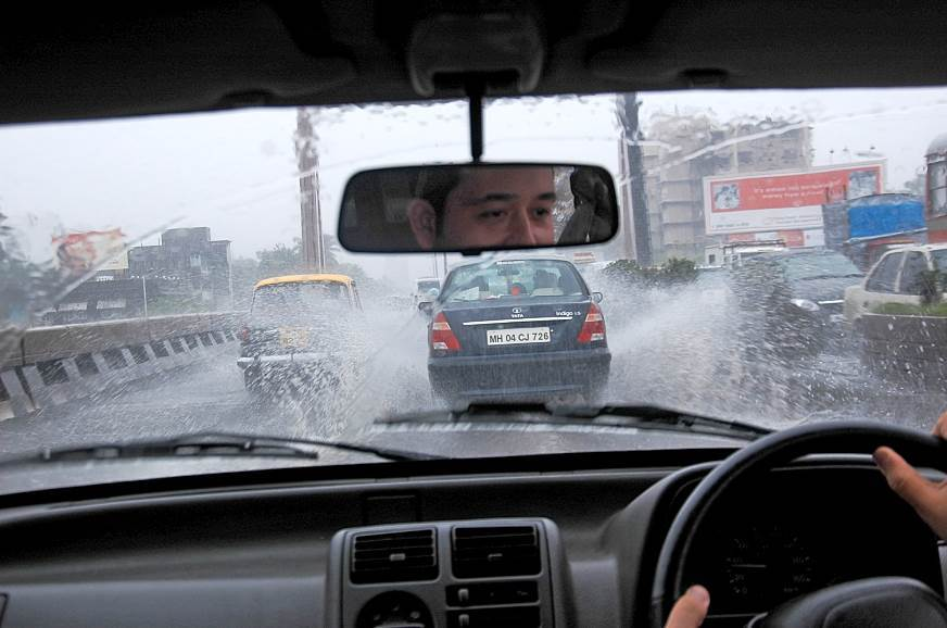 Driving during the Indian monsoon could anchor you down thanks to flooded roads.