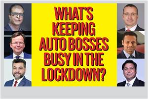 What's keeping auto bosses busy in the lockdown?