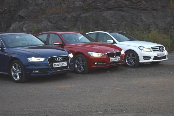 New 2013 Audi A4 2.0 TDI vs Mercedes C250 CDI vs BMW 320d