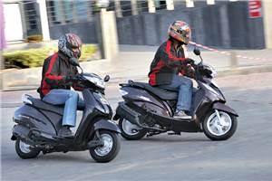 Honda Activa Vs TVS Wego