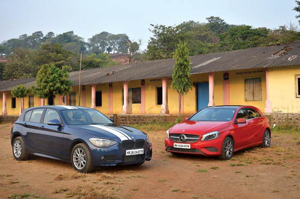 BMW 116i vs Mercedes A 180 petrol comparison