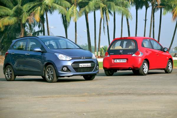 New Hyundai Grand i10 vs Honda Brio