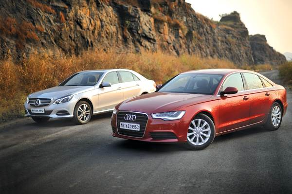 New Mercedes Benz E 200 CGI vs Audi A6 2.0 TFSI comparison