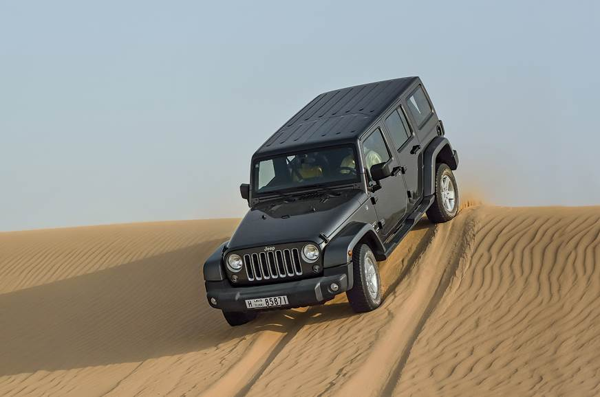 Dune bashing in Dubai in the Jeep Wrangler