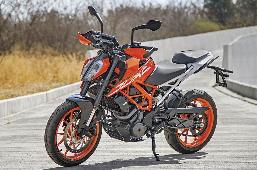 The KTM Duke 390 is a street-naked that's good for the city and the highway.