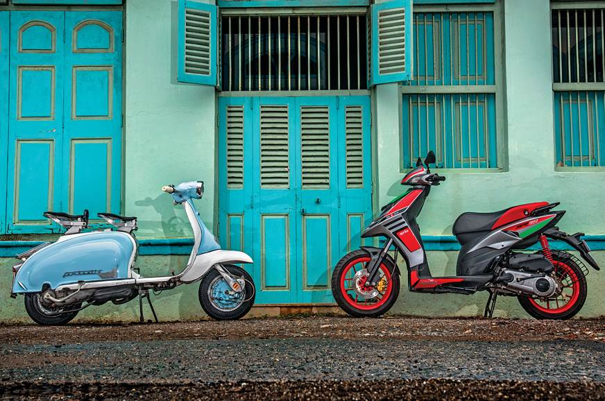 1962 Lambretta Li 150 and 2018 Aprilia SR 150