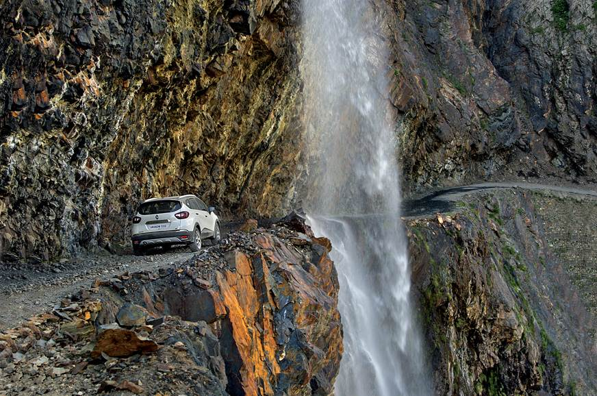 Renault Captur waterfall