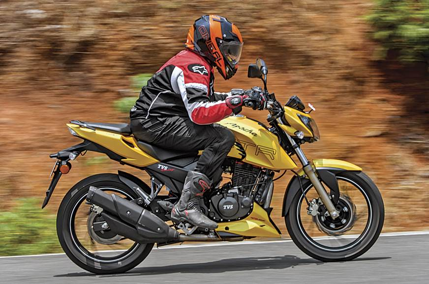 The TVS Apache RTR 200 4V has sufficient performance and excellent handling.
