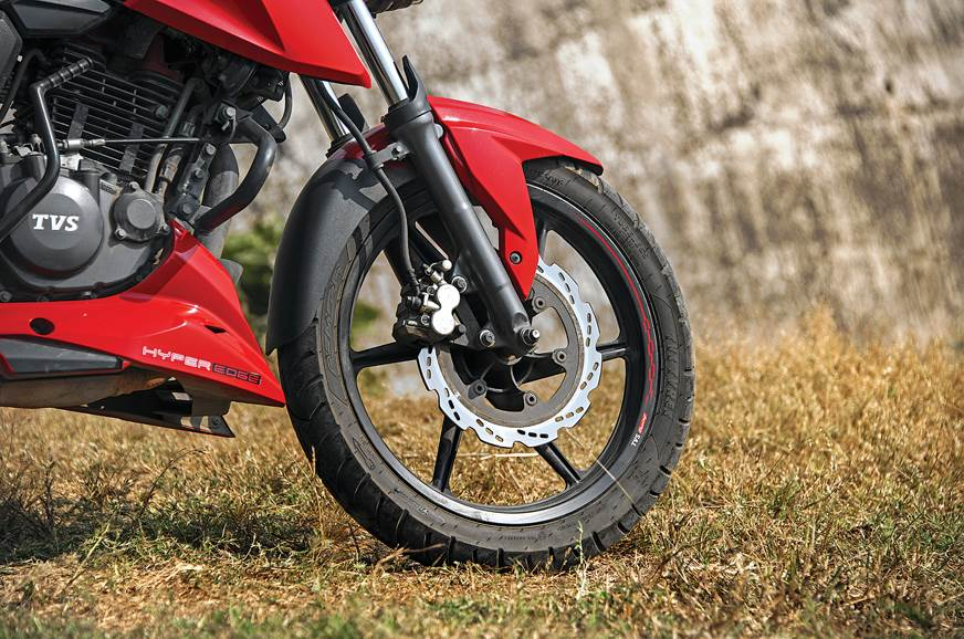 Upgrading the tyres and engine oil on a TVS Apache RTR 160 4V