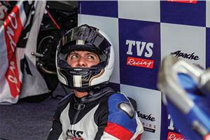 Inside the helmet: TVS Young Media Race 3