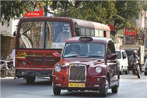 Driving London's iconic taxi in India