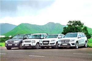 Mercedes GL 350 CDI vs Land Rover Discovery vs Audi Q7 vs Toyota Land Cruiser