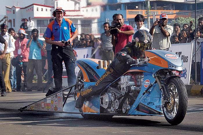 Gulf Top Fuel Drag Bike