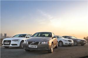 Volvo S80 D3 vs Audi A6 vs Merc E220 CDI vs BMW 520d
