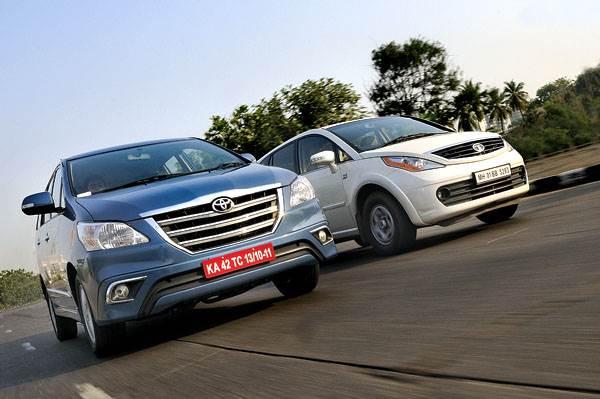 New 2013 Toyota Innova vs Tata Aria