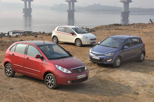 Tata Vista D90 vs Hyundai i20 CRDi vs Fiat Punto 90HP