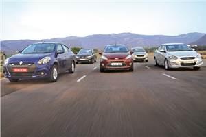 Renault Scala vs Ford Fiesta vs Skoda Rapid vs Hyundai Verna vs Honda City
