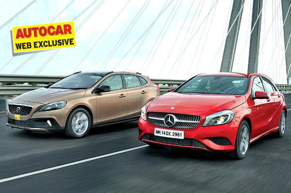 Mercedes A180 CDI vs Volvo V40 Cross Country D3