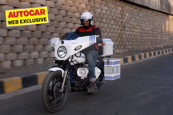A close look at the Hi-tech Police Motorcycle prototype