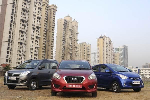 Datsun Go vs Hyundai Eon vs Maruti Wagon R comparison