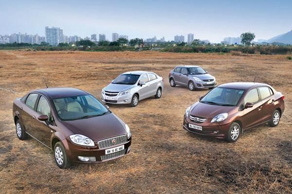 Diesel Sedans: Linea Classic vs Chevrolet Sail vs Maruti Dzire vs Honda Amaze