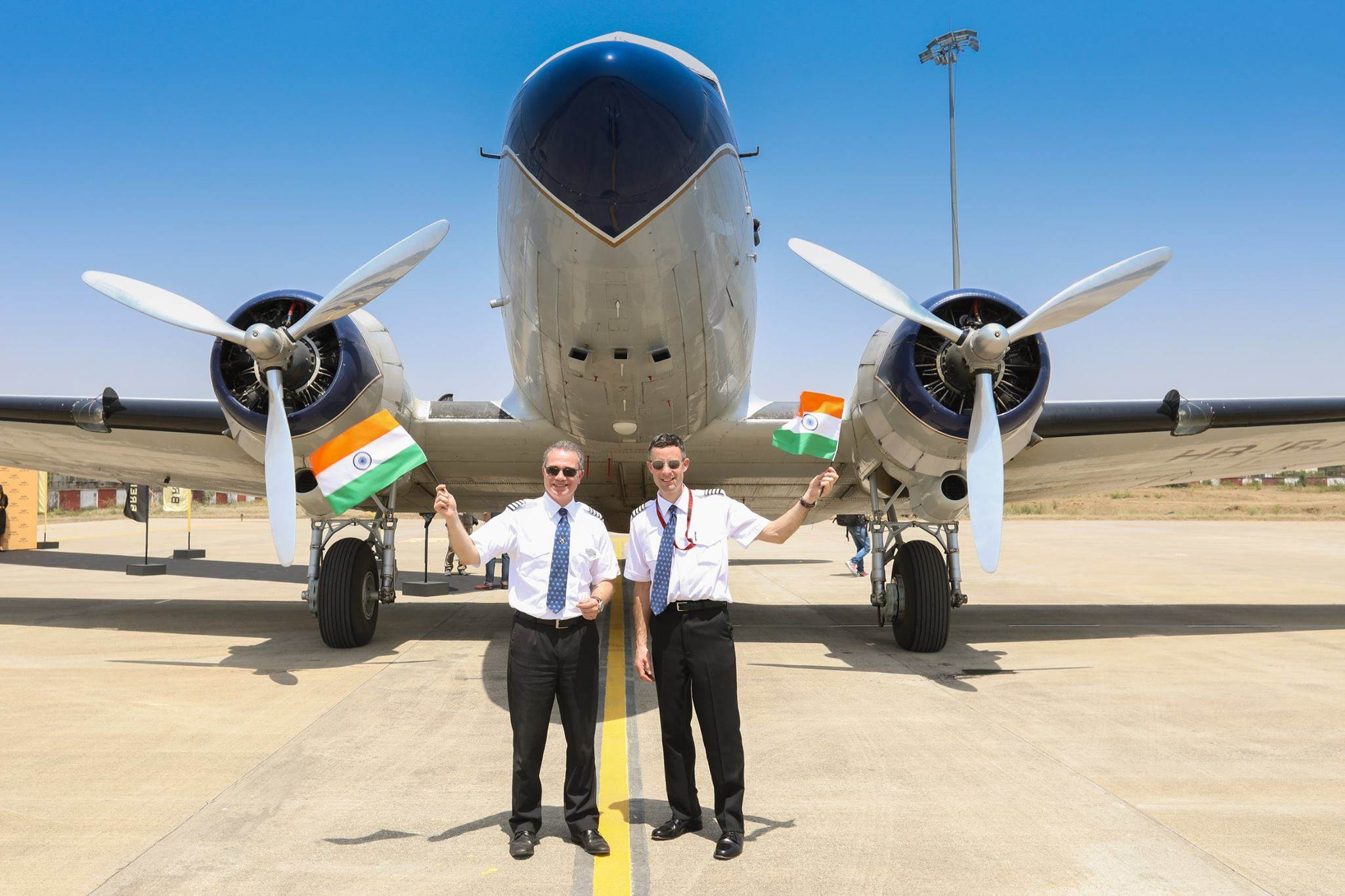 Flying on a 1940 Breitling DC-3 in India