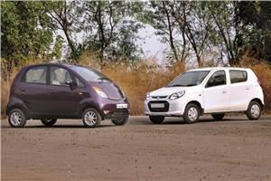 Tata Nano Twist vs Maruti Alto 800 comparison
