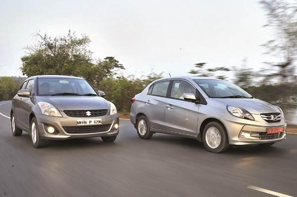 Honda Amaze vs Maruti Swift Dzire