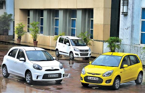 Nissan Micra Active vs Maruti Wagon R vs Ford Figo