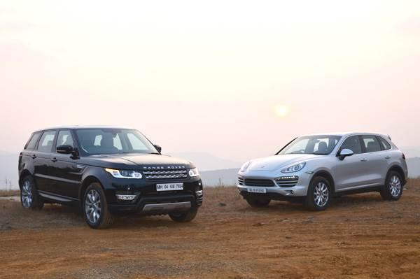 New Range Rover Sport SDV6 vs Porsche Cayenne Diesel