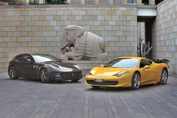 Ferrari FF and 458 Italia exclusive gallery