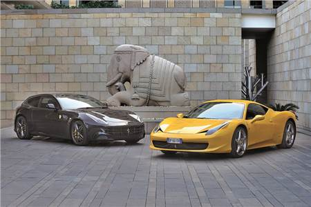 Ferrari FF and 458 Italia exclusive gallery
