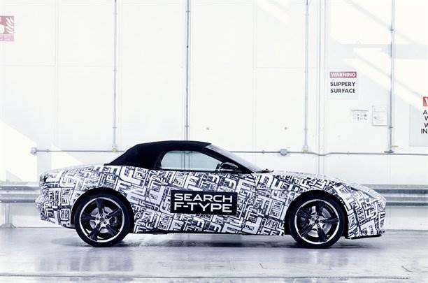 Jaguar F-Type official spy pictures