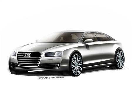 Audi A8 facelift sketches photo gallery