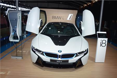 Auto Expo 2014: BMW i8 electric car photo gallery