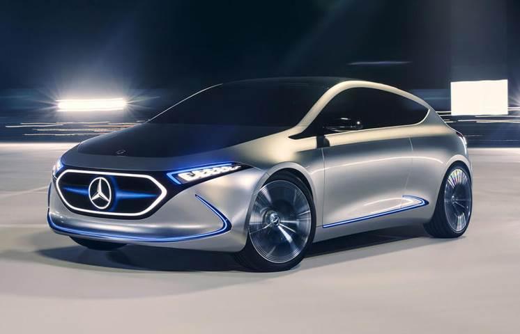 Mercedes-Benz EQA hatchback concept image gallery