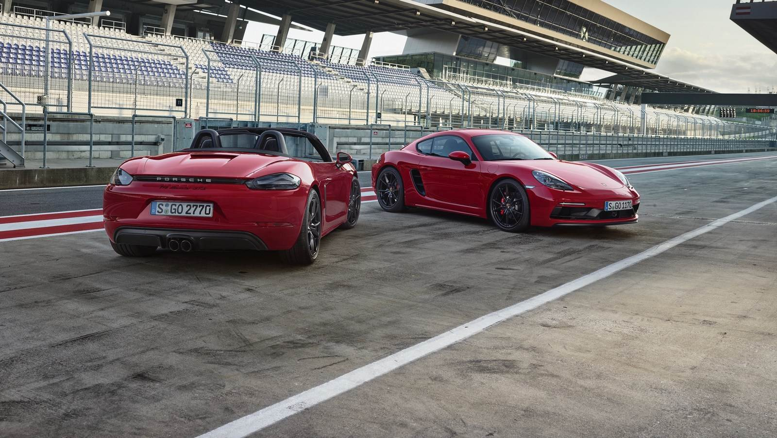 Porsche 718 Cayman GTS and Boxster GTS image gallery