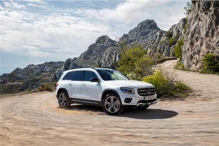 New Mercedes-Benz GLB SUV image gallery