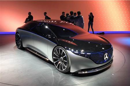 New Mercedes-Benz Vision EQS concept image gallery