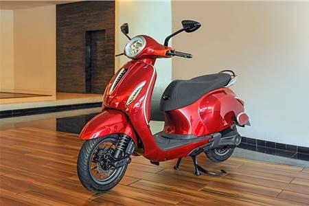 Bajaj Chetak e-scooter image gallery
