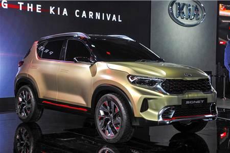 Kia Sonet compact SUV concept image gallery