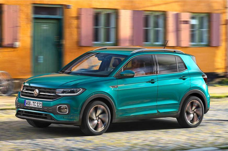 VW T-Cross front action