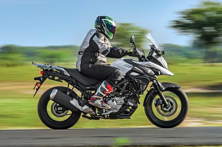 2018 Suzuki V-Strom 650XT side action