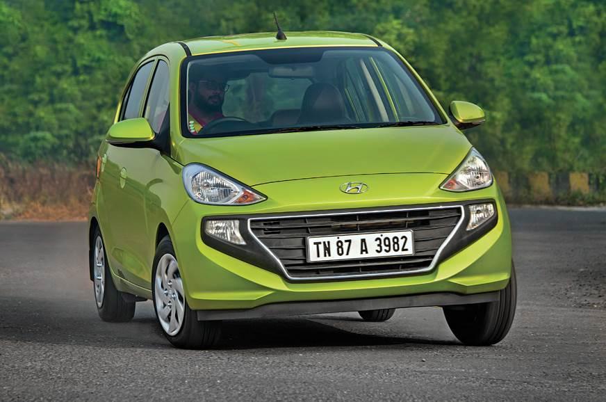 Hyundai Santro cornering action