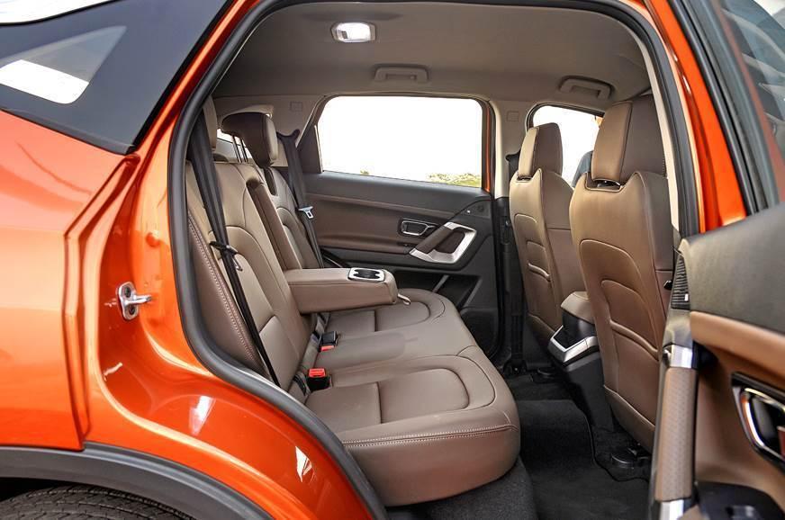 Tata Harrier rear seat