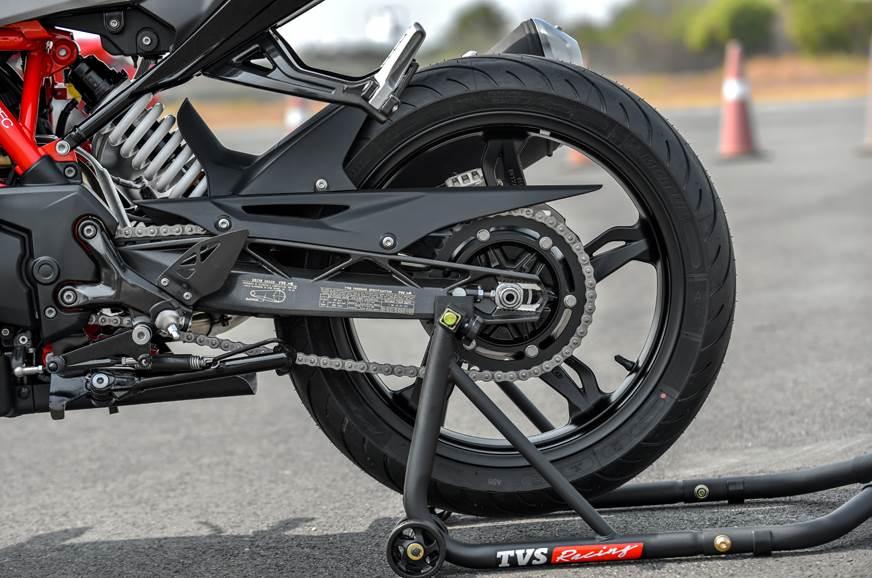 2019 TVS Apache RR 310 rear tyre