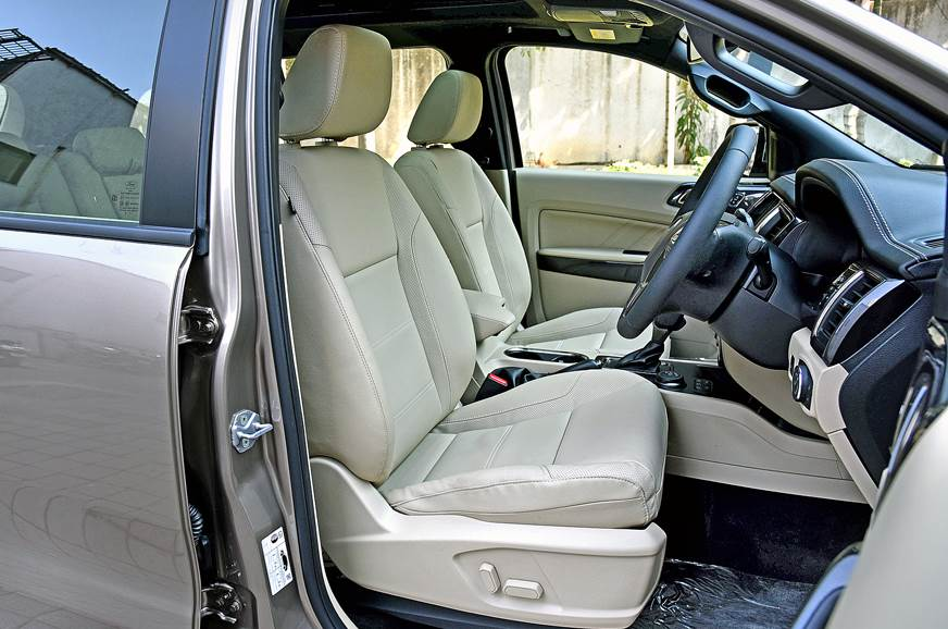 2019 Ford Endeavour facelift front seats
