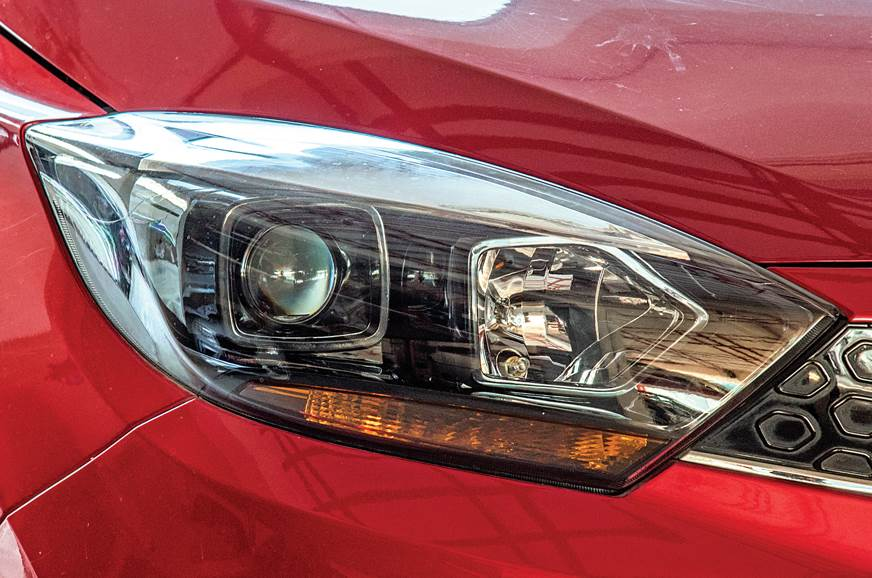 Tata Tigor AMT long term review headlight