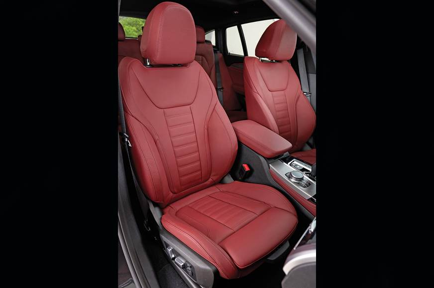 BMW X4 front seat