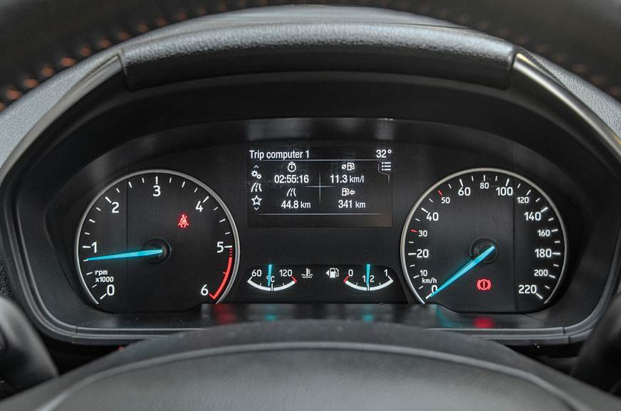 Ford EcoSport instrument cluster